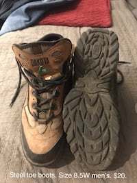 Men steel toe size 8.5 Nanaimo, V9R 6P4