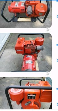 red Homelite portable generator collage Shirley, 11967