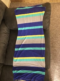 purple, white, and blue striped sleeveless dress Bremerton, 98312