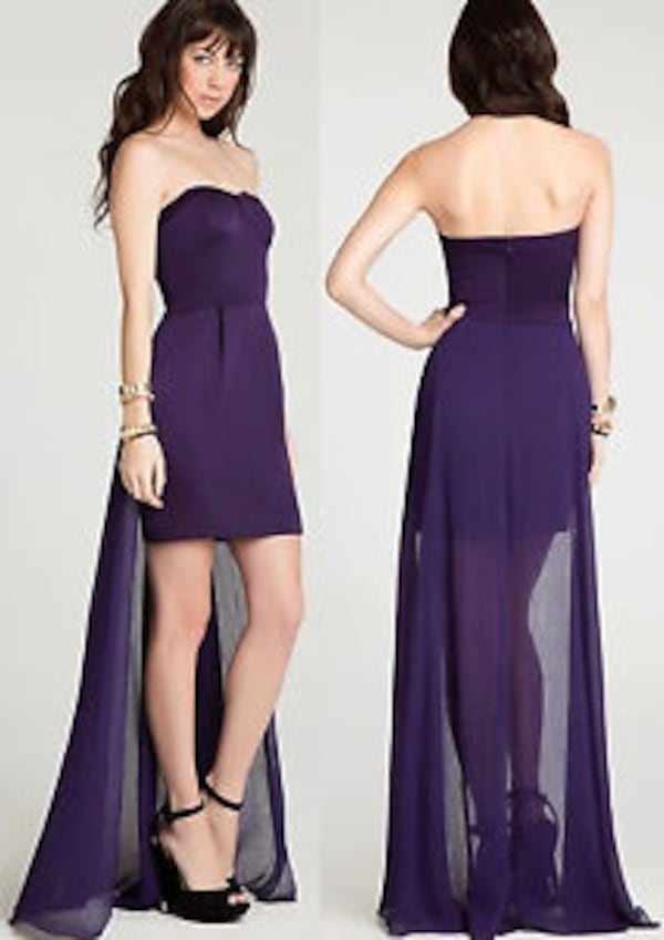 Size 2 xs new BCBG purple cocktail dress / XS evening gown with tags 0c154704-68c6-46a7-b426-4ede22f569ff