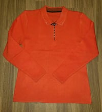Orange Langarm-Poloshirt Hamburg