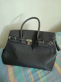 Tote bag in pelle grigia da donna Marino, 00047