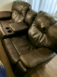 brown leather home theater sofa Fircrest, 98466