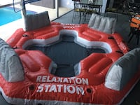 Intex Pacific Paradise Relaxation Station Water Lounge 4-Person River Tube Raft Merritt Island, 32953