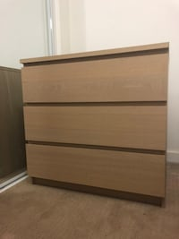 brown wooden 3-drawer chest Vancouver, V6B 0A7