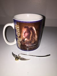 Authentic collectible Harry Potter mug and a Harry Potter bookmark