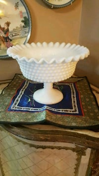 "Vintage ""Fenton "" Glass Compote Bowl"