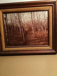brown wooden framed painting of trees Edmonton, T6L 2G7