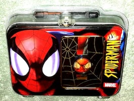 New SPIDERMAN Collectible Lunchbox & Digital Watch