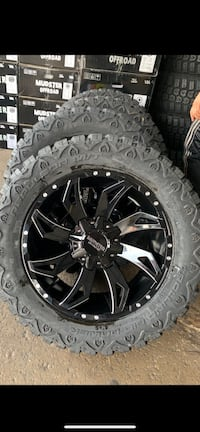 20 inch Ford f 250 wheels and tires package deal