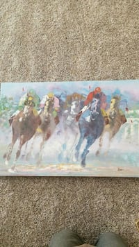 Canvas Horse Painting Prior Lake, 55372