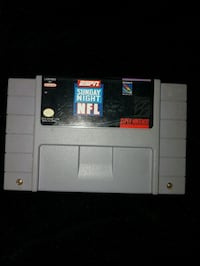 ESPN sunday night football video game snes Kitchener, N2P 1R7