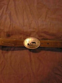 Leather Belt with Removable Buckle Limestone, 37681