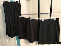 Woman's size 7/8 black dress skirts lot of 4 like new