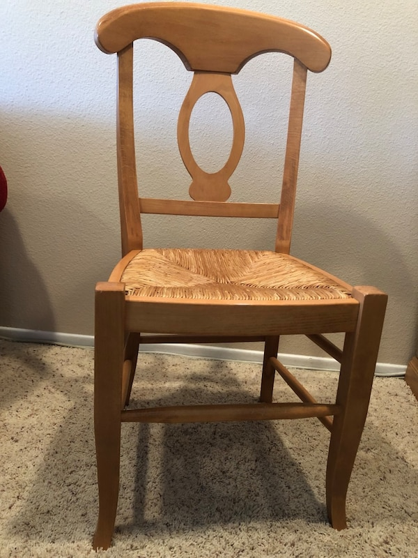 Used Wooden Chair With Woven Seat For Sale In Lake Forest Letgo