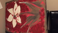 HUGE PAINTING White and red flower painting Edmonton, T6X