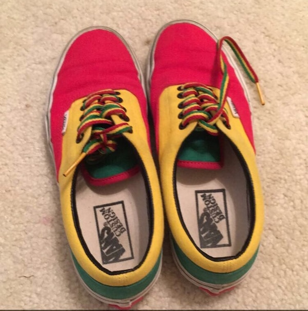 3b0b9b83f9 Used Red-yellow-green Vans Custom Design low top sneakers for sale in  Commerce - letgo