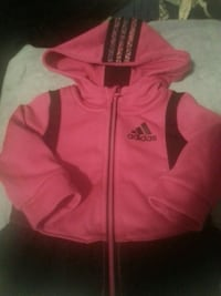 Baby girl 12 months  Adidas zip up hoodie