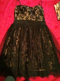 black and gray floral strapess dress Toledo, 43612