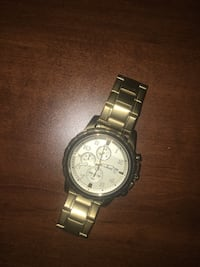 round silver chronograph watch with link bracelet Hamilton, L9A 2P7
