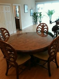 Hand carved dining room table and chairs Reading, 19601