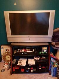 "Sony 36"" tv and Glass and mahogany wood tv stand Edmonton, T5Y 2P2"