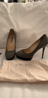 Jimmy Choo grey platform heels, circa 2012, size 40 Washington, 20009