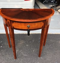 Half moon accent table-Bombay Furniture Company HARTFORD