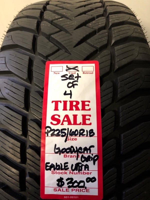 Set Of ( (Phone number hidden by letgo) dyear Eagle Ultra Grip used tires. 37cbfd16-6708-4e4e-921f-13f444a2771b