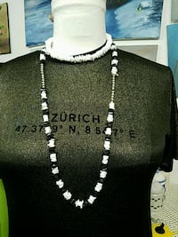 Two black and white beaded necklace Amarillo, 79119