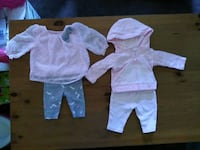 Girl 0-3 month fall winter cloths and other Red Lion, 17356