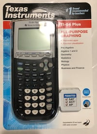 BRAND NEW! Texas Instruments TI-84 Plus Graphing Calculator, Black