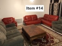 Red Sofa Set (Sofa, Loveseat, and Chair) Potomac
