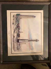 Set Of Three Matted And Framed Prints Indianapolis, 46260