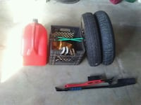 Two new 5 bolt car spares and good tow straps Red Deer, T4R 0A5