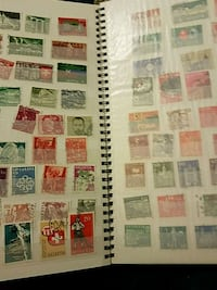 assorted-color postage stamp lot