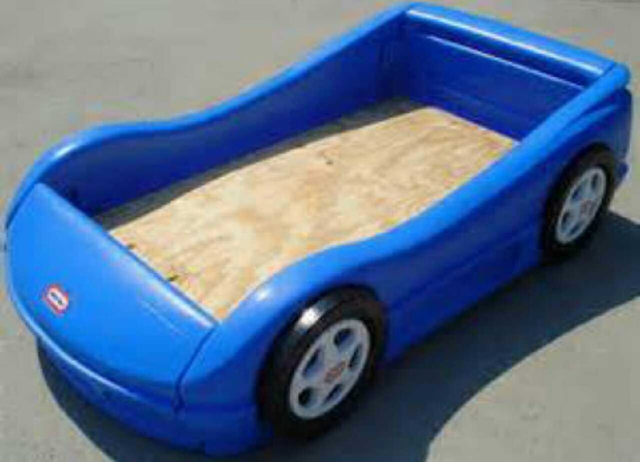 Little Tikes Blue Car Bed