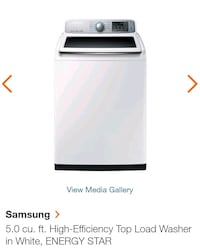 Samsung high efficiency washer and dryer.