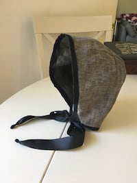 Black and gray baby bonnet. Made to order   Los Alamitos, 90720