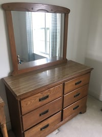 brown wooden dresser with mirror Kensington, 20895