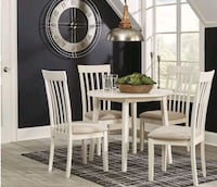 Brand New 5 Piece White Round Dining Room Set from Ashley for Sale Lutherville-Timonium, 21093