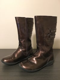 Girls Stride Rite Leather Boots - Size 10.5