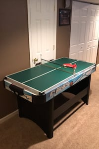 Electronic Air hockey/ping pong combination table