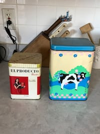 El Producto and cow printed canisters Genoa, 60135