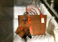 brown leather Michael Kors tote bag 19 mi