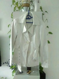 White Denim angegurtet Blazer