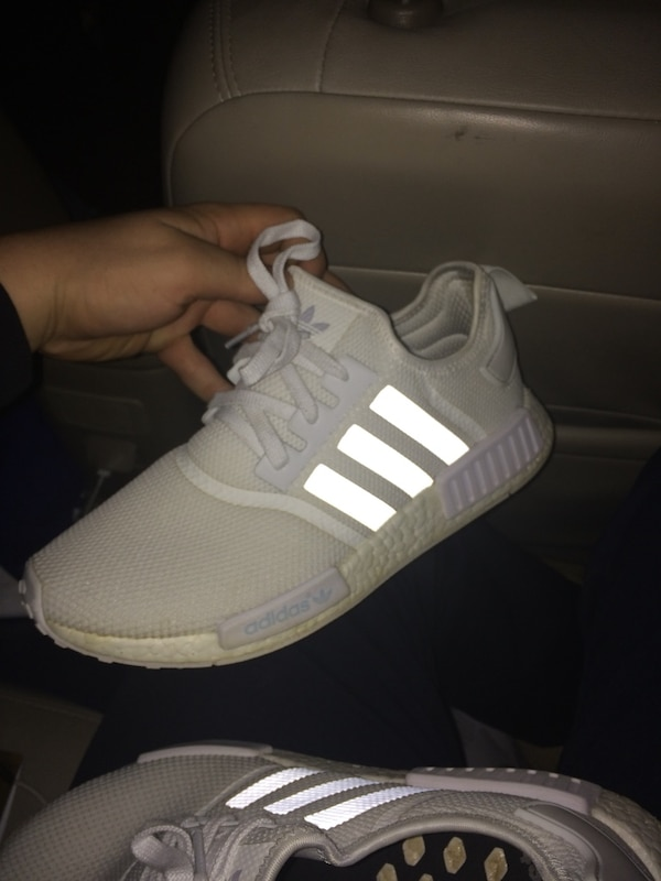 separation shoes 259c1 1c45c All white nmds