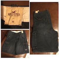 New With Tags Mens Navy Blue Hollister Cargo Shorts Size 30 Waist Houston, 77066