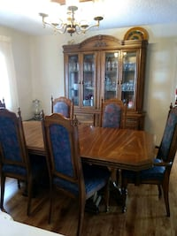 brown wooden dining table set Kelowna, V1Y 3E1