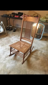 Beautiful antique wood rocker with caned seat   Colorado Springs, 80917